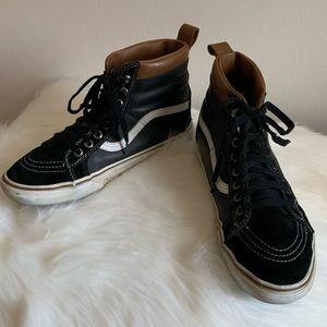 Vans SK8-Hi MTE Leather Black True White
